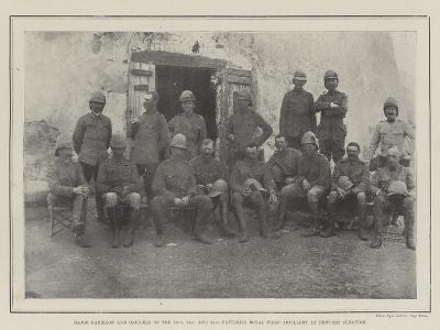 Major Harrison and Officers of the 76Th--Giclee Print