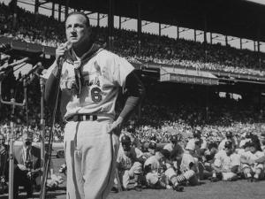 Major League Baseball Player, Stan Musial, Announcing His Retirement from Baseball