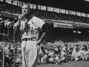 Major League Baseball Player, Stan Musial, Announcing His Retirement from Baseball