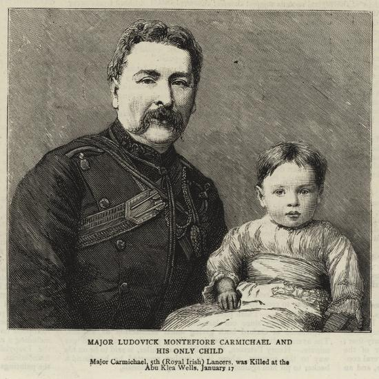 Major Ludovick Montefiore Carmichael and His Only Child--Giclee Print