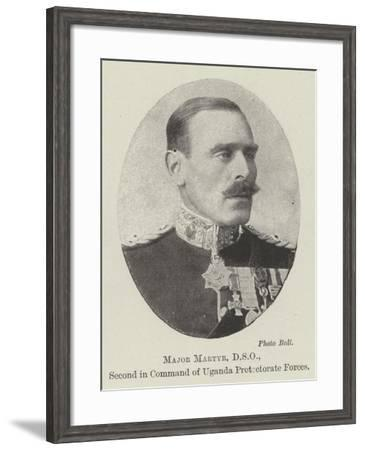 Major Martyr, Dso, Second in Command of Uganda Protectorate Forces--Framed Giclee Print