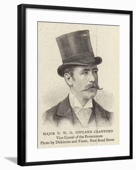Major P W G Copland Crawford--Framed Giclee Print