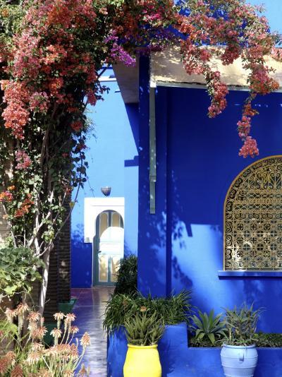 Majorelle Garden, Restored by the Couturier Yves Saint-Laurent, Marrakesh, Morocco-De Mann Jean-Pierre-Photographic Print