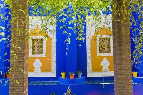 Majorelle Gardens (Gardens of Yves Saint-Laurent), Marrakech, Morocco, North Africa, Africa-Matthew Williams-Ellis-Photographic Print