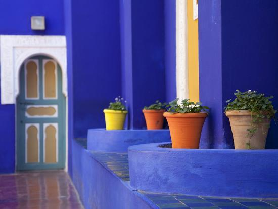 Majorelle Gardens, Marrakesh, Morocco, North Africa, Africa-Frank Fell-Photographic Print