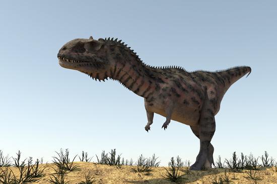 Majungasaurus in a Barren Environment-Stocktrek Images-Art Print