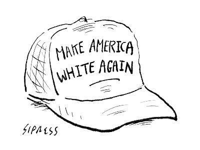 Make America White Again - Cartoon-David Sipress-Premium Giclee Print