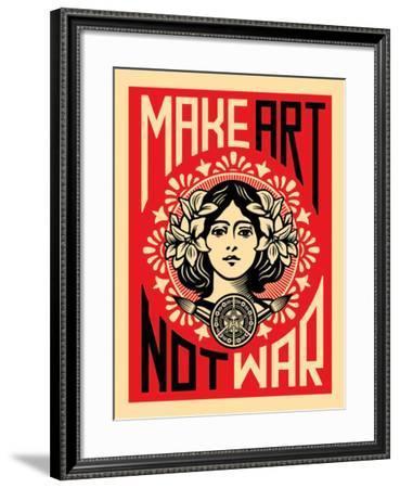 Make Art Not War-Shepard Fairey-Framed Art Print
