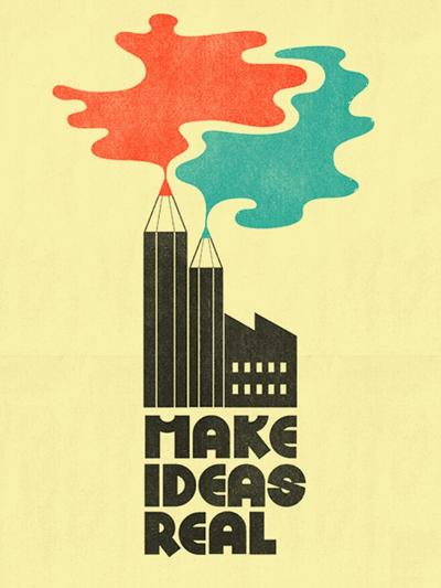 Make Ideas Real-Dale Edwin Murray-Giclee Print