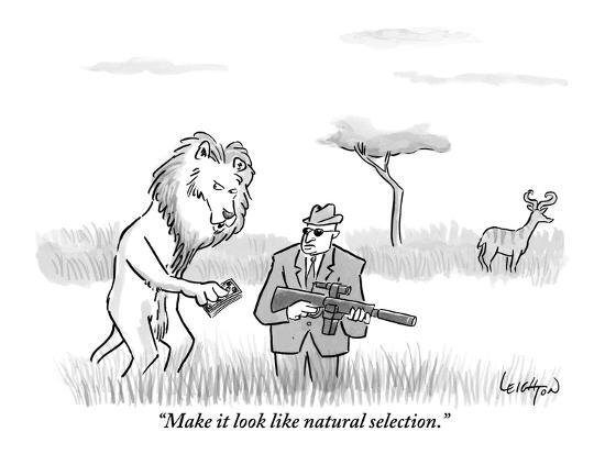 make it look like natural selection new yorker cartoon premium