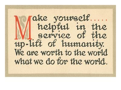 Make Yourself Helpful--Art Print