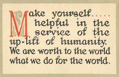 Make Yourself Helpful