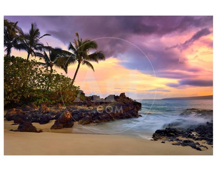Makena Beach State Park With View Towards Molokini Island Island Of Maui Hawaii Usa Premium Giclee Print By Art Com