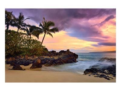 Makena Beach State Park with View towards Molokini Island, Island of Maui, Hawaii, USA--Art Print