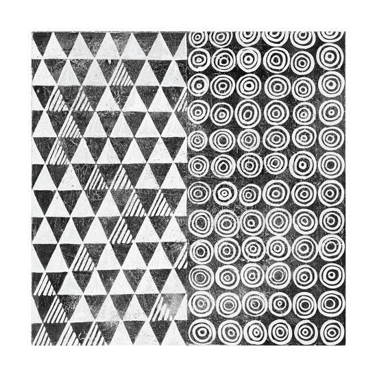 Maki Tile I BW-Kathrine Lovell-Art Print