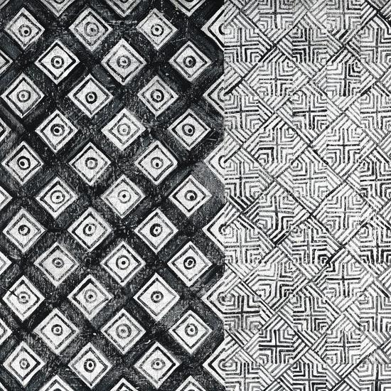 Maki Tile II BW-Kathrine Lovell-Art Print