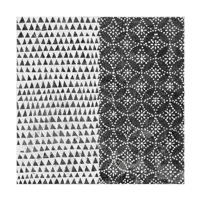 Maki Tile IV BW-Kathrine Lovell-Art Print