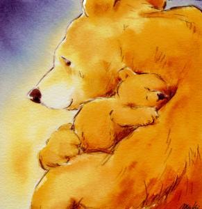 Mother Bear's Love I by Makiko