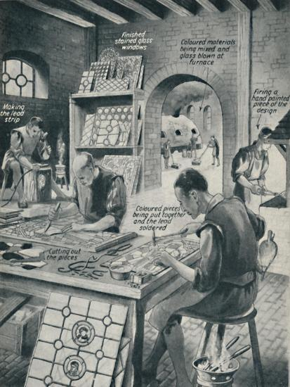 'Making A Stained Glass Window', c1934-Unknown-Giclee Print