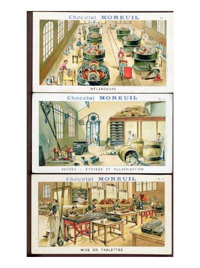 Making Chocolate, Image Advertising the Chocolate 'Moreuil', c.1900--Giclee Print