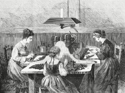 Making Cigars, 1874, Italy, 19th Century--Giclee Print