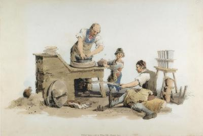 Making Flower Pots, 1808-William Henry Pyne-Giclee Print
