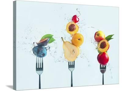 Making Fruit Salad-Dina Belenko-Stretched Canvas Print
