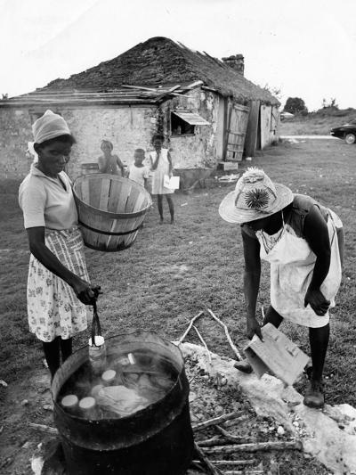 Making Guava Jelly, a Staple of Diet on Great Exuma Island, Bahamas, C.1978--Photographic Print