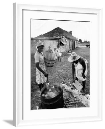 Making Guava Jelly, a Staple of Diet on Great Exuma Island, Bahamas, C.1978--Framed Photographic Print