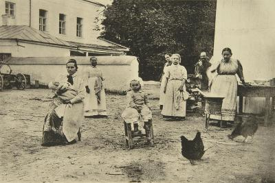 Making Jam in the Courtyard of Leo Tolstoy's House, Yasnaya Polyana, Near Tula, Russia, 1900-Sophia Tolstaya-Giclee Print