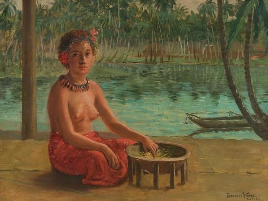 Making Kava, Samoa, 1901-Theodore Wores-Giclee Print