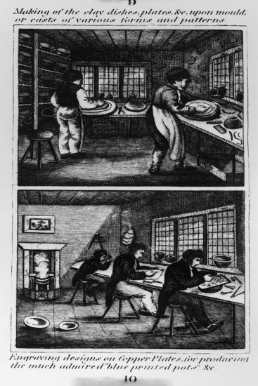 Making of the Clay Dishes, 1827--Giclee Print