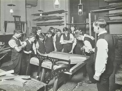 Making Pianos, Benthal Road Evening Institute, London, 1914--Photographic Print