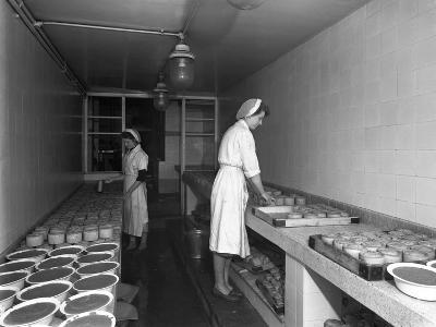 Making Pork Pies, Schonhuts Butchery Factory, Rawmarsh, South Yorkshire, 1955-Michael Walters-Photographic Print