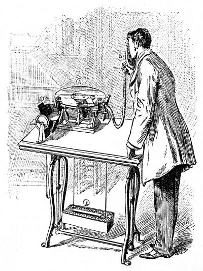 Making Recordings on Emile Berliner's Gramophone, C1887--Giclee Print