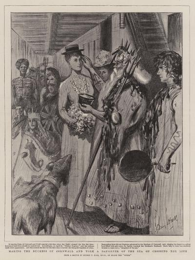 Making the Duchess of Cornwall and York a Daughter of the Sea on Crossing the Line-Sydney Prior Hall-Giclee Print