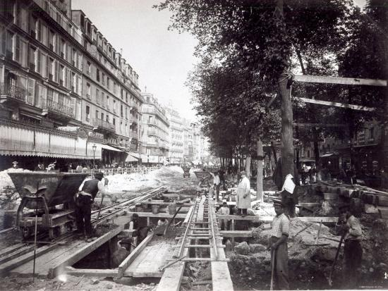Making the Station of St Paul on Ligne 1 of the Paris Metro, 1903--Photographic Print