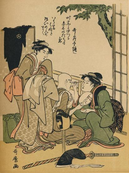 'Making Up For The Stage', c1780-Kitagawa Utamaro-Giclee Print