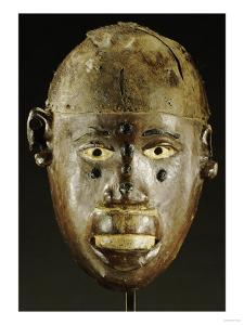 Makonde Mask of Oval Form with Open Mouth