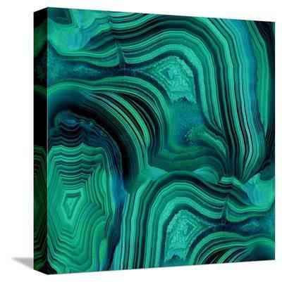 Malachite in Green and Blue-Danielle Carson-Stretched Canvas Print