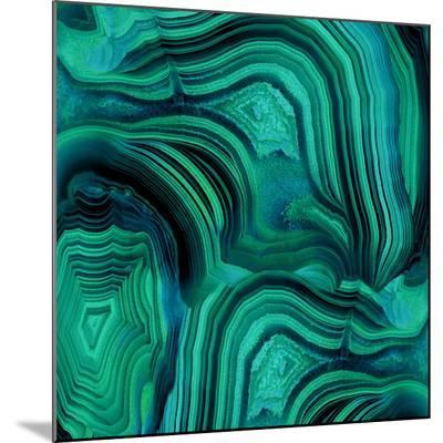 Malachite in Green and Blue-Danielle Carson-Mounted Print
