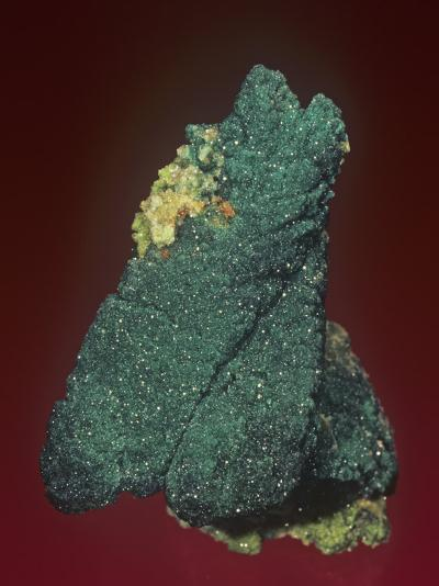 Malachite with Azurite and Quartz, Tsumeb Mine, Namibia, Africa-Mark Schneider-Photographic Print