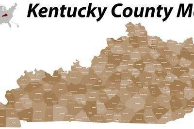 Kentucky County Map