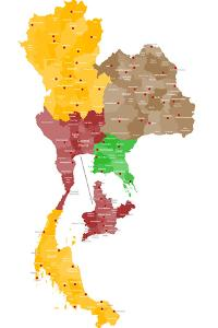 Map of Thailand by malachy120