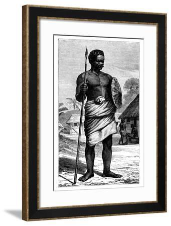 Malagasy Warrior, 19th Century-Gerome Staal-Framed Giclee Print