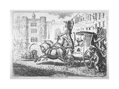 Malagrida Driving Post, 1792-James Gillray-Giclee Print