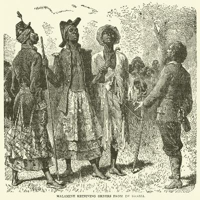 Malamine Receiving Orders from De Brazza--Giclee Print