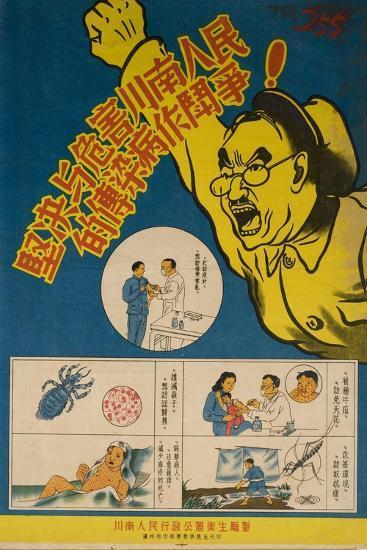 Malaria, Typhoid, Smallpox and Other Infectious Disease are Battled--Art Print