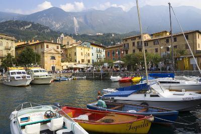 Malcesine, Harbor, Lake Garda, Lombardy, Italy-Peter Adams-Photographic Print