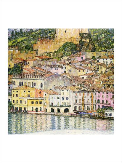 Malcesine on Lake Garda-Gustav Klimt-Giclee Print